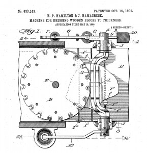 Patent No 833,163 Machine For Dressing Wooden Blocks To Thickness