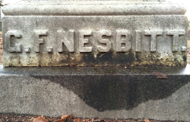 George Nesbitt's grave stone at Green-Wood Cemetery in Brooklyn. Special thanks to Nick Sherman for permission to use the photograph.