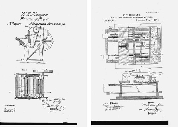 US Patents 99101 & 108813