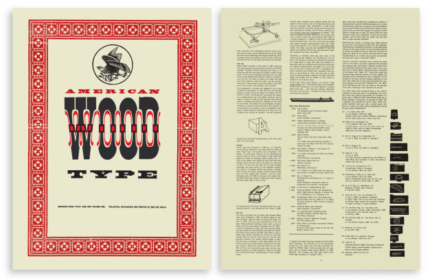 Final versions of bound cover (left) and  text page (right).