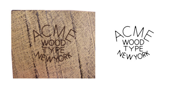 ACME Wood Type Mfg Co c1938–1942