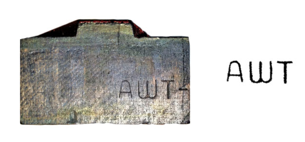 Allied Wood Type Mfg Co stamp